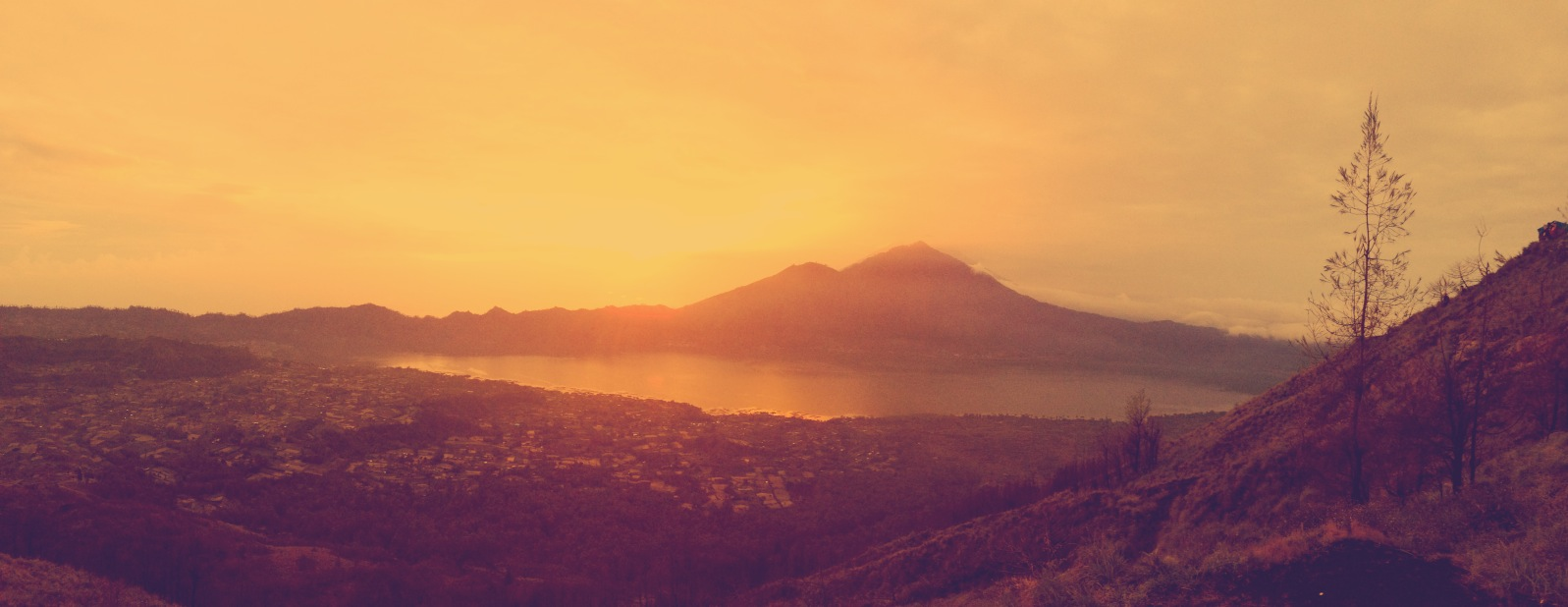 Morning Glory: From Where I Stand, Mt. Batur, Bali.