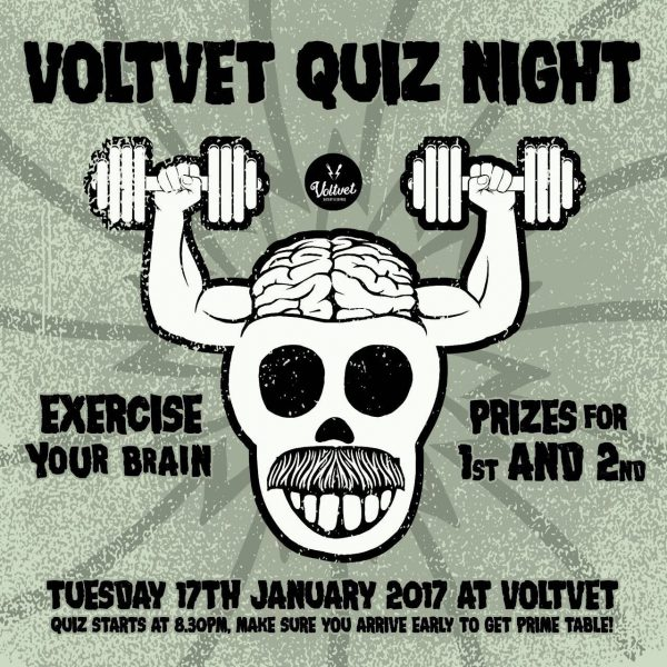 Voltvet Quiz Night – Exercise Your Brain 3 (17 Januari 2017)
