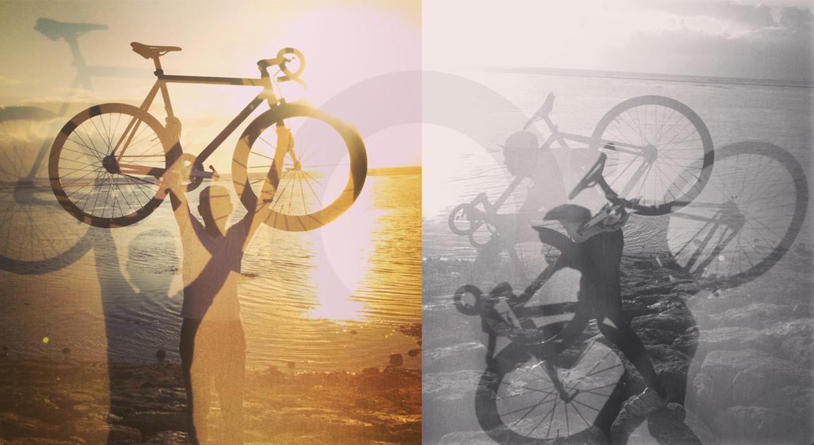 Manusia Pengayuh Sepeda (digiart)