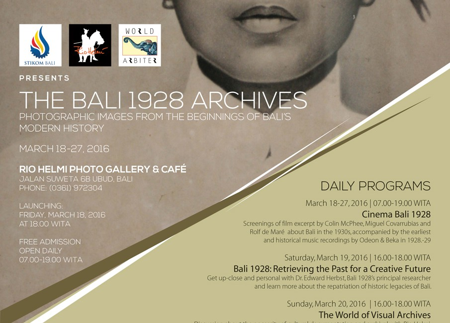 (Event) Bali 1928 Photo Exhibition at Rio Helmi Photo Gallery & Café, Ubud