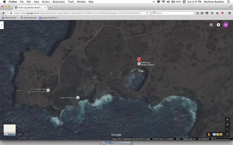 Google Bird Eye View - perwajahan Pasir Uug dari angkasa