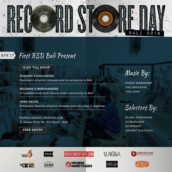 Agenda Record Store Day Bali 2016